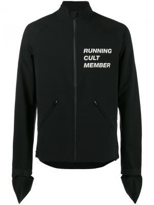 Куртка Running Cult Member Satisfy. Цвет: чёрный