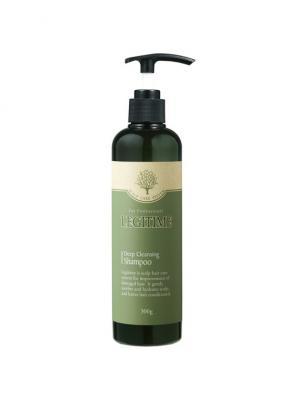 Шампунь для глубокого очищения и роста волос, 300 мл Legitime. Цвет: темно-зеленый