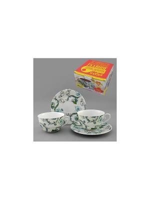 Набор чайный 4 пр. РОКОКО LARANGE. Цвет: белый