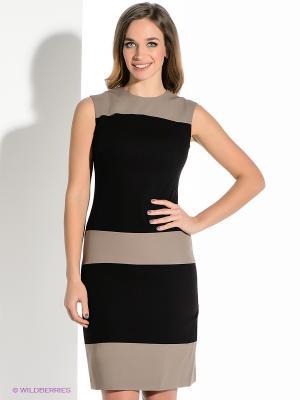 Платье Levall. Цвет: бежевый, темно-коричневый