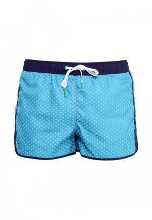 Шорты для плавания United Colors of Benetton. Цвет: голубой