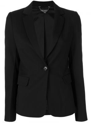Пиджак с застежкой на одну пуговицу Twin-Set. Цвет: чёрный