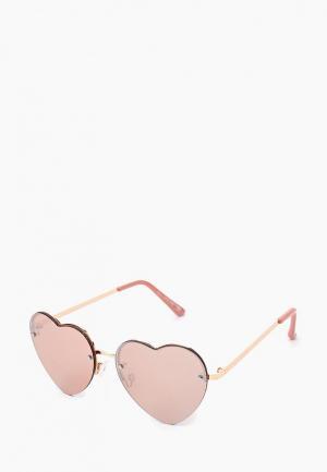 Очки солнцезащитные Call It Spring. Цвет: розовый