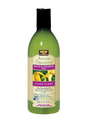 Гель для ванны и душа с маслом Иланг-Иланг, 355 мл Avalon Organics. Цвет: прозрачный