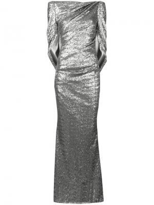 Платье Konica Talbot Runhof. Цвет: металлический