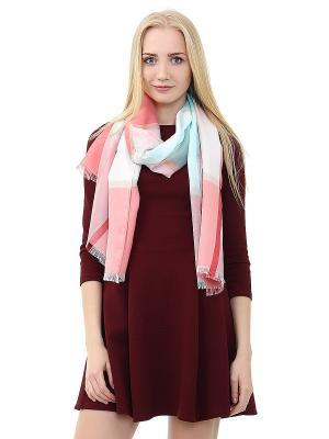 Платок Infiniti. Цвет: бирюзовый, бежевый, розовый