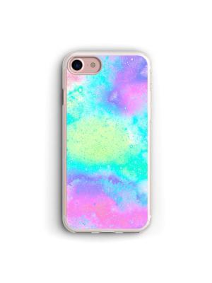 Чехол для iPhone 7/8 Голографический фон Boom Case. Цвет: морская волна, светло-голубой