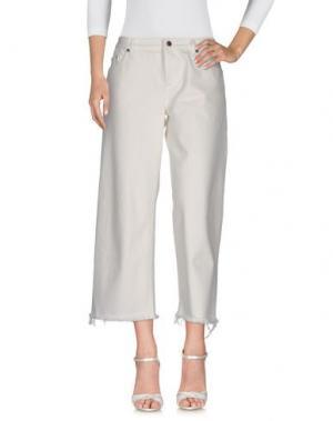 Джинсовые брюки SIMON MILLER. Цвет: белый