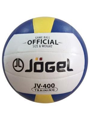 Мяч волейбольный Jogel JV-400. Цвет: синий, желтый