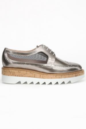 Ботинки Pertini. Цвет: розово-серый