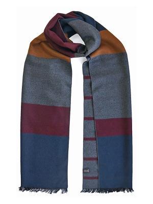 Мужской шарф LANYINGDI ША-17 30*180 100% шелк. Цвет: рыжий, серый, синий