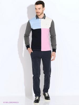 Лонгслив-поло Eden Park. Цвет: серый, голубой, розовый, белый, темно-синий