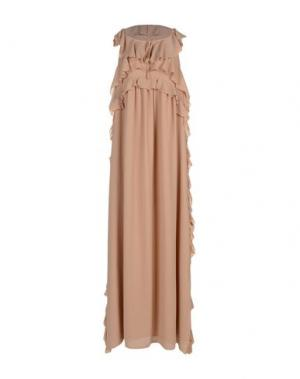 Длинное платье KI6? WHO ARE YOU?. Цвет: песочный