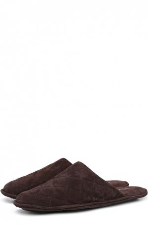 Домашние замшевые туфли Homers At Home. Цвет: коричневый