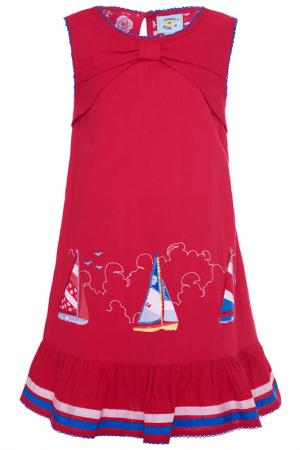 Платье Uttam kids. Цвет: красный