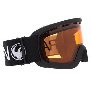Маска для сноуборда детская  LiL D Coal/Amber Dragon. Цвет: черный