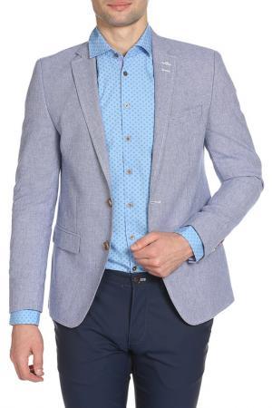 Пиджак STONES. Цвет: синий, белый, принт