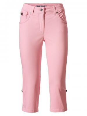 Моделирующие джинсы-капри. Otto. Цвет: розовый