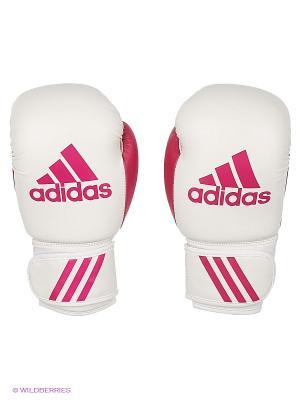 Перчатки боксерские Response Adidas. Цвет: белый, розовый