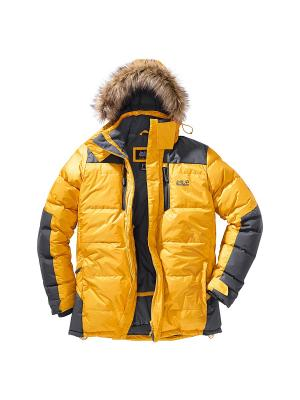 Куртка THE COOK PARKA Jack Wolfskin. Цвет: желтый
