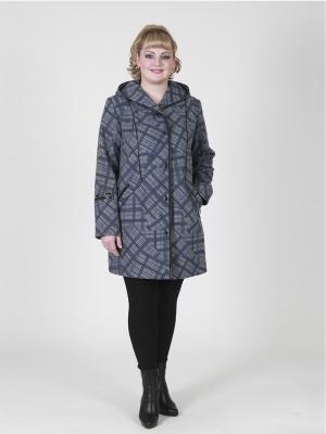 Пальто Мила VIKO. Цвет: серый, синий