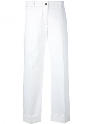 Укороченные брюки Alberto Biani. Цвет: белый