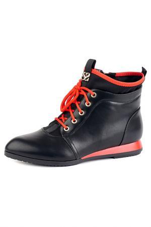 Ботинки Vita Ricca. Цвет: черно-красный