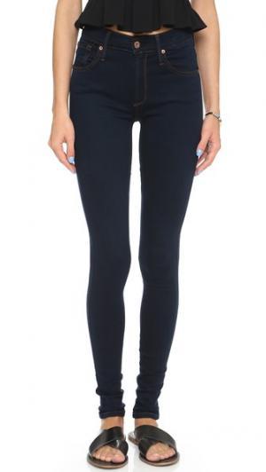 Джинсы-леггинсы с пятью карманами Twiggy James Jeans. Цвет: 8767 темный