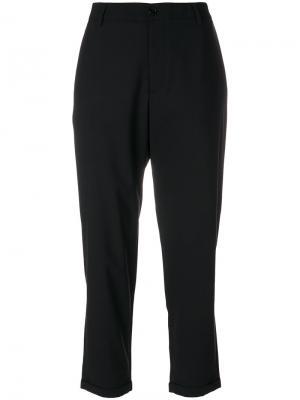 Укороченные суженные брюки Barena. Цвет: чёрный