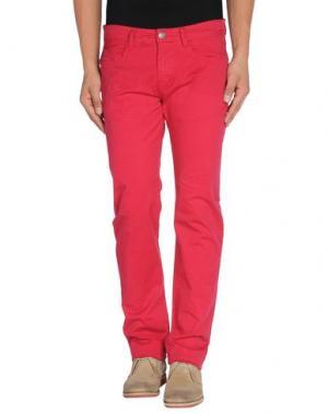 Повседневные брюки YES ZEE BY ESSENZA. Цвет: красно-коричневый