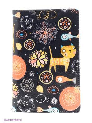 Обложка для документов Flioraj. Цвет: черный, оранжевый, желтый