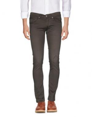 Повседневные брюки DONDUP. Цвет: темно-коричневый
