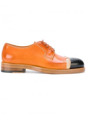 Ботинки-дерби на шнуровке Maison Margiela. Цвет: коричневый