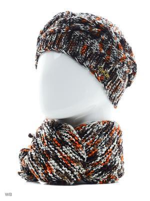 Комплект ЮЛИЯ ТТ. Цвет: коричневый, белый, оранжевый