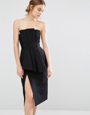 C/meo Collective Платье со складками Need. Цвет: черный
