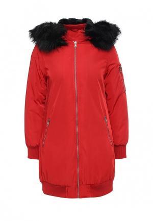 Куртка утепленная B.Style. Цвет: красный