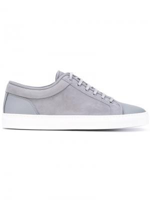 Кроссовки на шнуровке Etq.. Цвет: серый