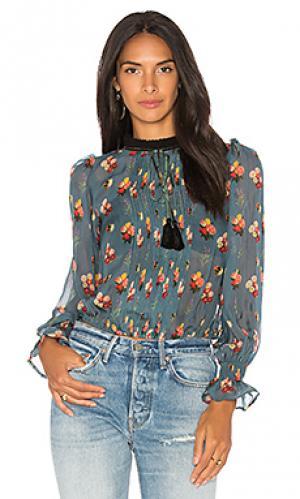 Блузка с длинным рукавом emma Carolina K. Цвет: синий