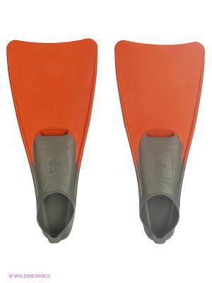 Ласты POOL COLOUR LONG Mad Wave. Цвет: оранжевый, серый