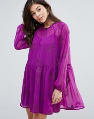 Little White Lies Платье с присборенной юбкой Myrtle. Цвет: розовый