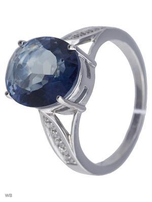 Кольцо Митра Ювелир. Цвет: синий, серебристый