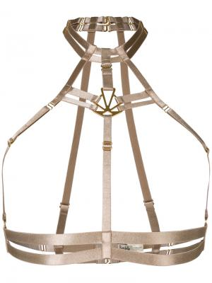 Art Deco adjustable harness Bordelle. Цвет: телесный