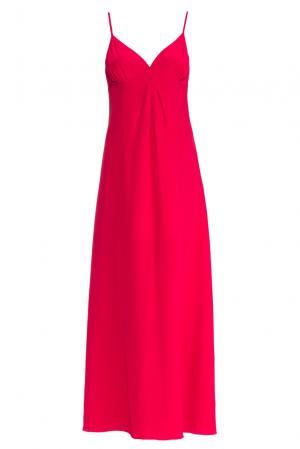 Платье-комбинация из шелка 159416 Mari Axel. Цвет: красный