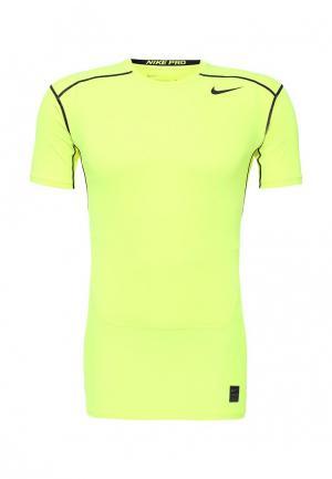 Футболка компрессионная Nike. Цвет: желтый
