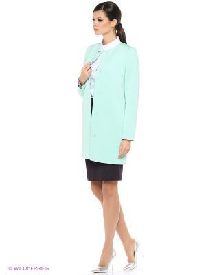 Пальто EURYDIKE. Цвет: светло-зеленый