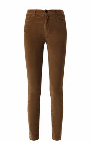 Вельветовые джинсы-скинни Dolce & Gabbana. Цвет: бежевый