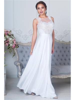 Платье SEAM. Цвет: белый
