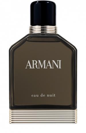Туалетная вода Eau De Nuit Giorgio Armani. Цвет: бесцветный