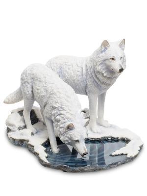Статуэтка Пара волков Veronese. Цвет: белый