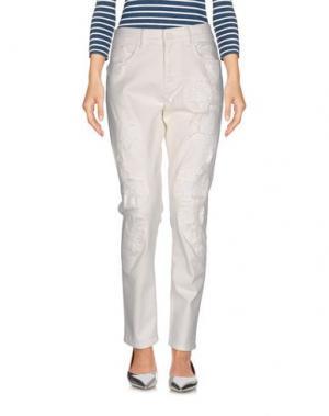 Джинсовые брюки MAISON CLOCHARD. Цвет: белый
